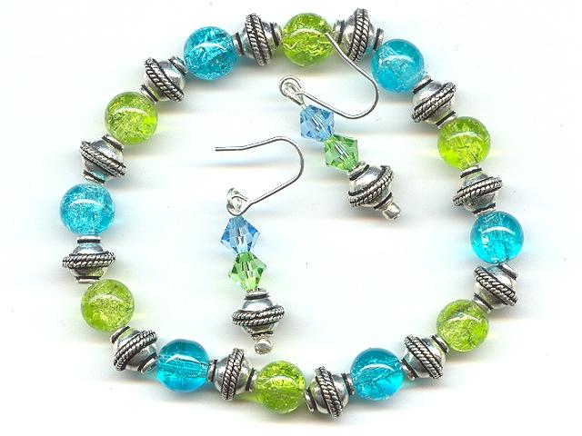 Blue Green Grecian Bracelet