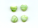 Green Marble Effect Heart  - Ref: 1004