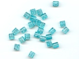Ice Blue Crackle Tubes - Ref: 417