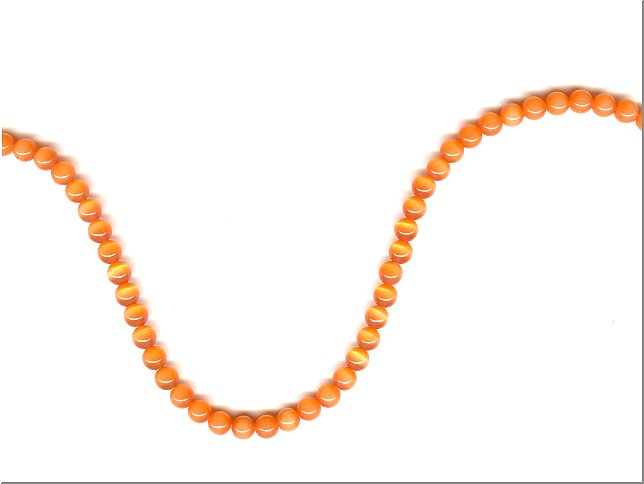 Orange Cats EyeCats Eye Beads